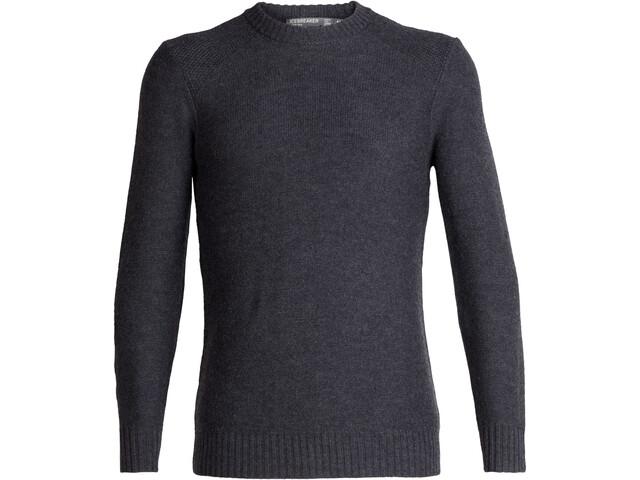Icebreaker Waypoint Sweat-shirt à col ras-du-cou Homme, char heather